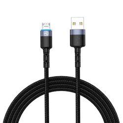 купить Кабель для моб. устройства Tellur TLL155353 Cable USB - Micro USB, cu LED, Nylon, 1.2m, Black в Кишинёве