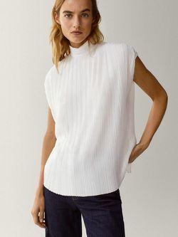 Блуза Massimo Dutti Белый 6856/665/712