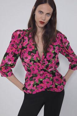 Блуза ZARA Цветочный принт 7635/023/800