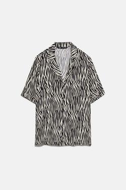 Блуза ZARA Черно-белый 8372/047/037