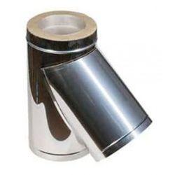 Двустенный тройник из нержавеющей стали 45° Ø 100-180 мм