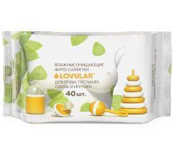 Влажные салфетки для груди Lovular 40 шт