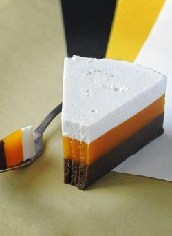 Муссовый торт с апельсином и тыквой