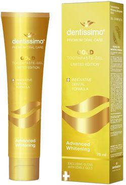 купить Аксессуар для зубных щеток Dentissimo Gold Advanced Whitening,75 ml pasta de в Кишинёве