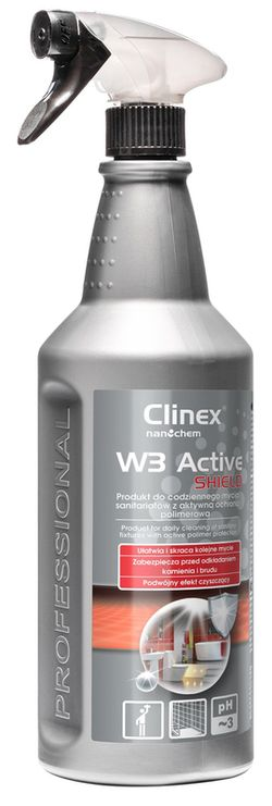 Clinex W3 Active Shield 1l  p/elementele din oțel