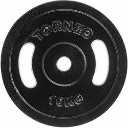 Диск металлический прорезиненный 10 кг d=30 мм (4177)
