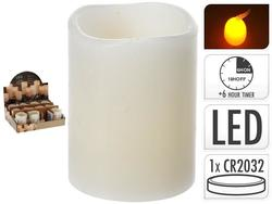 Luminare LED 6.5X5cm, cu timer, bej