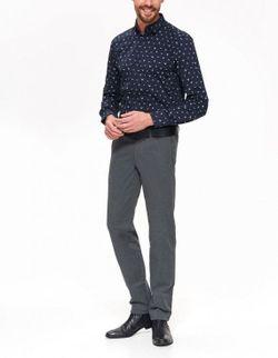Рубашка TOP SECRET Темно синий с принтом SKL2732GR