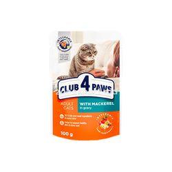 Club 4 Paws Premium скумбрия в соусе 100 gr