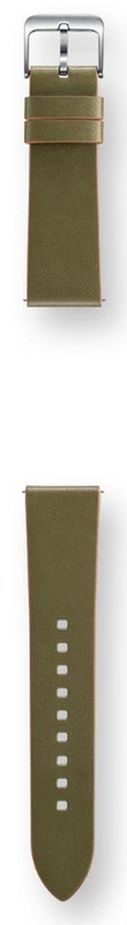 cumpără Accesoriu pentru aparat mobil Samsung ET-YSL76 Gear S3 (Leather Strap), Green în Chișinău