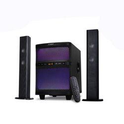 Sistem audio, FENDA, 2x17.5W+35W, USB, Bluetooth/FM radio, 220-240V, Telecomandă, Negru