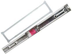 Tija dubla pentru perdea si prosoape MSV 125-225cm alba, aluminiu