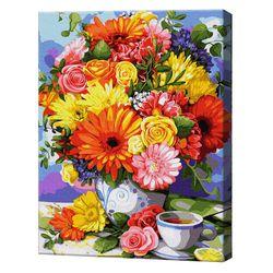 Buchet aprins la ceai, 40х50 cm, pictură pe numere Articol: GX37780