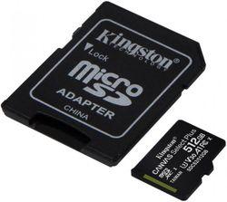 Сard de memorie Kingston microSD 512Gb Class10 A1 UHS-I + SD adapter (SDCS2/512GB)