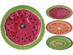 Набор тарелок бумажных 10шт, D23cm,