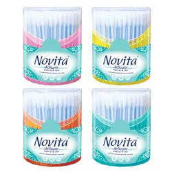Ватные палочки Novita Delicate, 160 шт. (коробка)