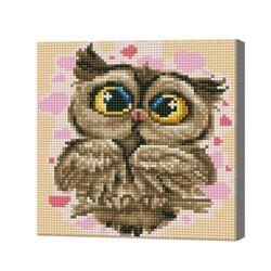 Влюбленная сова, 20x20 см, алмазная мозаика