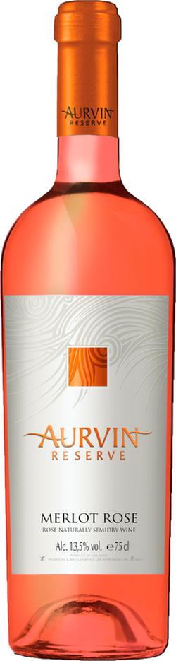 Vin Reserve Merlot Rose Aurvin, sec rose,  0.75 L