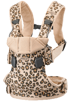 Анатомический рюкзак-кенгуру BabyBjorn One Beige/Leopard