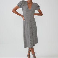 Платье ZARA Черно/Белый в клетку 7901/851/064