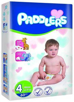 Подгузники Paddlers Jumbo №4 Maxi 8-19kg 60
