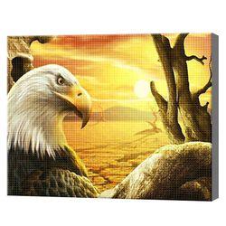 Белоголовый орлан, 40x50 см, aлмазная мозаика