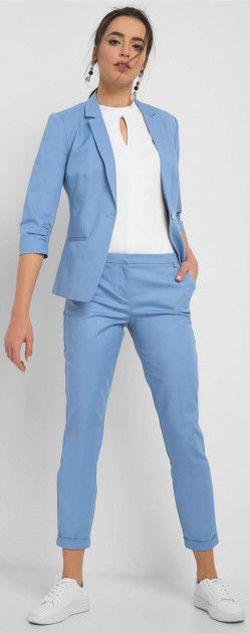 Pantaloni ORSAY Albastru deschis 390210 orsay