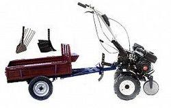 Set motocultivator TECHNOWORKER HB 700S+ Remorca RK500 + plug cartofi + plug reglabil