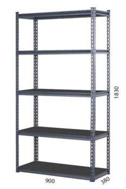 Стеллаж металлический Moduline 900x380x1830 мм, 5 полок/0164PE антрацит, RAL0197