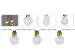 Set de ghirlande LED 10 lampi aurgintii, pentru iluminarea casei, pe baterii