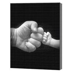 Удар кулачками, 30x40 см, aлмазная мозаика