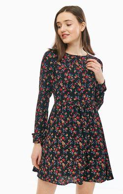 Платье TOM TAILOR Черный с принтом 1006207