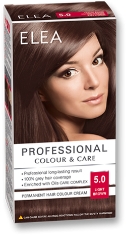 Краска для волос,SOLVEX Elea, 138 мл., 5.0 - Светлый шатен