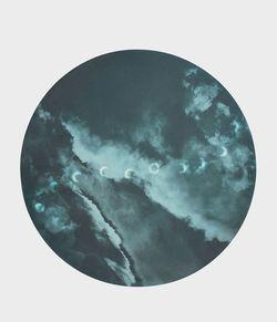Коврик для йоги Manduka round luna night (blue)
