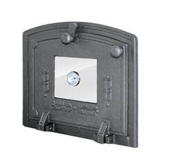 Дверца чугунная для духовки со стеклом и термометром