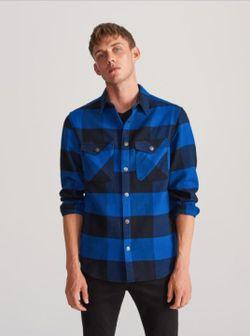 Рубашка RESERVED Синий в клетку