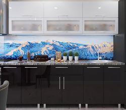 Кухонный гарнитур Bafimob Modern (High Gloss) 2.0m glass White/Black