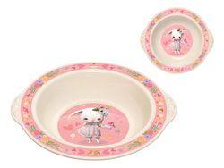 Тарелка детская глубокая Пластишка 20cm розовая