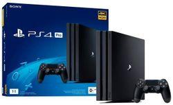 cumpără Consolă de jocuri PlayStation PS 4 PRO 1TB Black, 1x Gamepad (Dualshock 4) în Chișinău