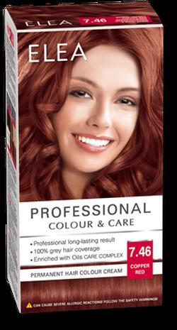 Краска для волос,SOLVEX Elea, 138 мл., 7.46 - Медно-красный
