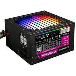 Блок питания ATX 800W GAMEMAX VP-800-RGB-M, 80+ Bronze, Active PFC, 120-мм вентилятор RGB, полумодульный