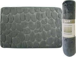 Коврик для ванной комнаты 50X80cm Pebble серый, микрофибра