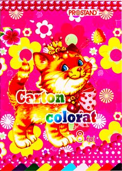 Carton colorat A4 8 foi