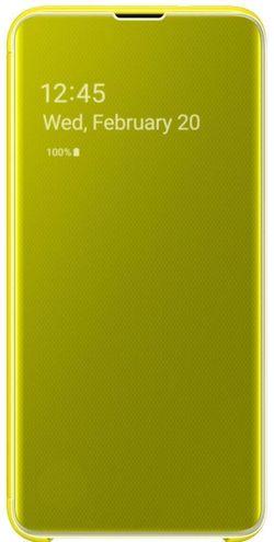cumpără Husă telefon Samsung EF-ZG970 Clear View Cover Beyound Yellow în Chișinău