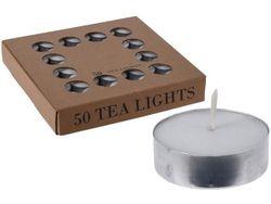 Свечи чайные 50шт, 4 часа, D3.8cm, H1.2cm
