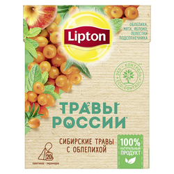 Lipton Травы России травяной чай в пирамидках с облепихой, 20 шт