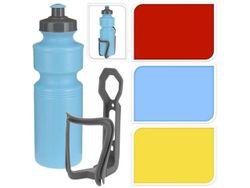 Бутылка питьевая 0.75l для велосипедистa с держателем, 3 цве