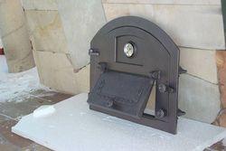 Дверца чугунная глухая левая с термометром PIZZA 1Т