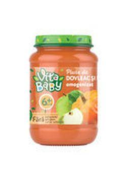 Piure Baby Vita fără zahăr dovleac, măr, 180g