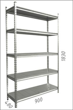 Стеллаж металлический с металлической плитой Gama Box 900Wx480Dx1830 Hмм, 5 полок/MB
